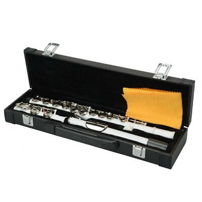 New Professional White Cupronickel School Band Student 16 Closed C Flute