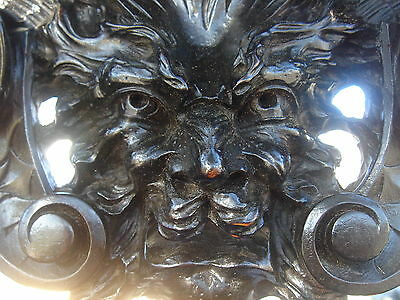 19C Venetian Gothic Carved Walnut Devil/Satyr/Gargoyle/Griffin/Dragon Sideboard