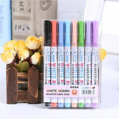 8 Colors Whiteboard Marker Pen Wipeable Glass Window Shop Car Decorating Tool