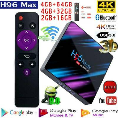 H96 Max-3318 Smart TV Box 4G+16/32/64G Android 9.0 WiFi Media w/T1+Fly Air Mouse