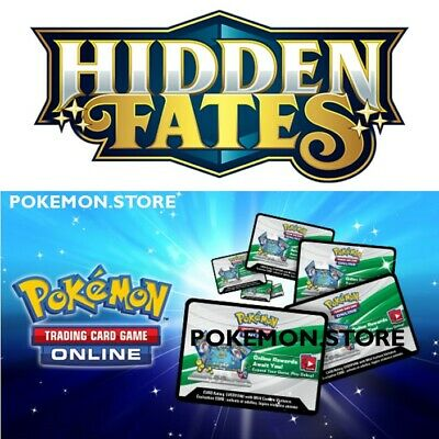 50 Hidden Fates Codes Pokemon TCG Online Booster EMAILED FAST! IN HAND!!