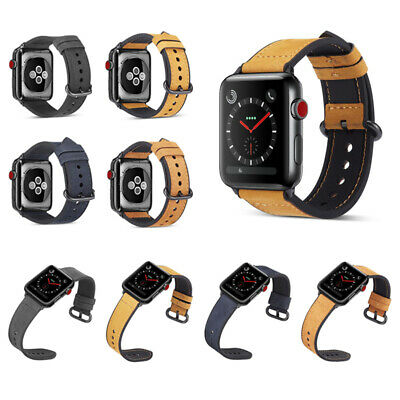 38/40/42/44mm Genuine Leather iWatch Band Strap for Apple iWatch Series 4 3 2 1