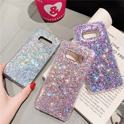 Bling Sparkle Shockproof Slim Rubber Soft Glitter Case Cover For Samsung Galaxy