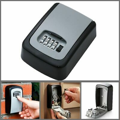 Password Key Box Lock Organizer Case 4 Digit Combination Safety Container