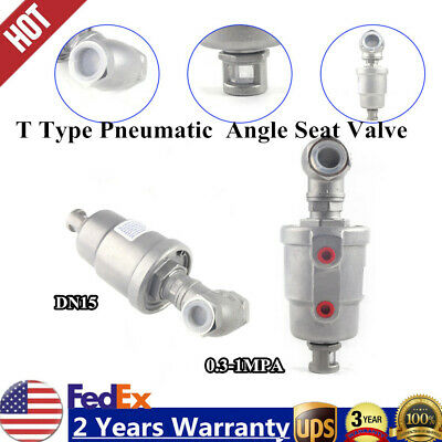 T Type Pneumatic Actuated Angle Seat Valve Large Flow Double Action Water Valve