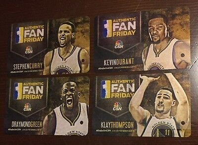 2018 NBA Champions Golden State Warriors Collectible BART Rail Ticket Set of 4