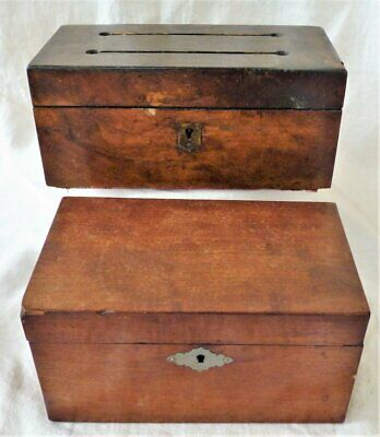 Antique Wooden boxes for restoration repair need a little tlc