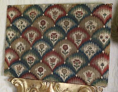 17th Century English Bargello Embroidered Panel Antique Needlework