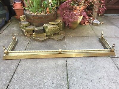 Vintage, Victorian Style Brass Fender/Bumper Real Coal Fire Hearth.