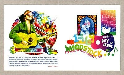 2019 Woodstock  Stamp ~ Panda #2 First Day Cover~Janis Joplin Combo ~ Dcp Cancel