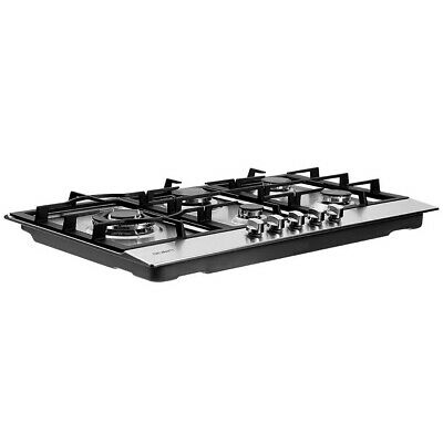 90cm Gas Cooktop Kitchen Stove Cooker 5 Burner Stainless Steel Silver