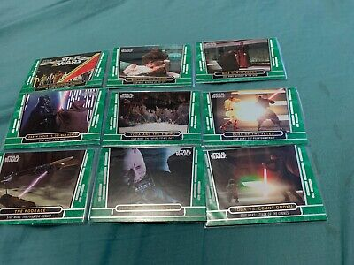 STAR WARS 40th ANNIVERSARY Green Parallel Card Lot of 14 2017 Topps