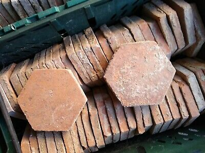 250+ Antique French Hexagonal Terracotta Floor Tiles Reclaimed Vintage Tomettes