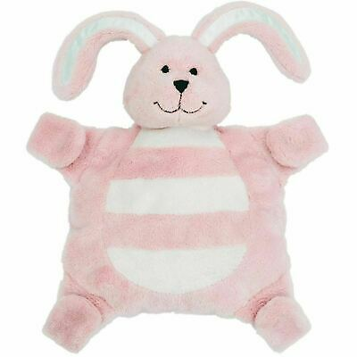 Sleepytot Baby & Toddler  Comforter Soother Holder soft toy Clip - Pink Bunny