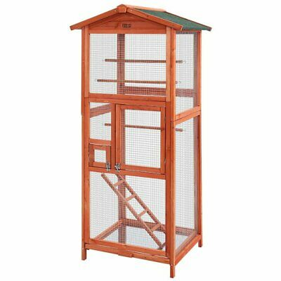 Bird Cage Wooden Pet Cages Aviary Large Carrier Travel Canary Parrot Budgie Finc