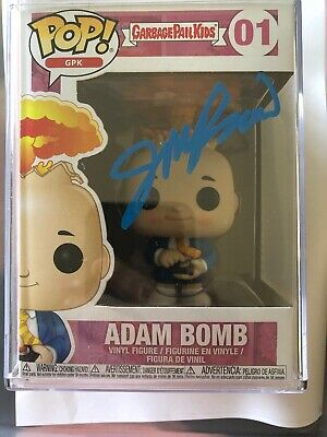 Funko Topps Garbage Pail Kids Adam Bomb Signed By John Pound Sdcc 2019