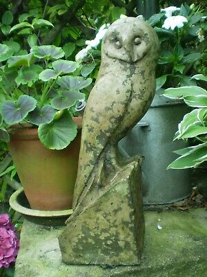 Vintage French Gorgeous Owl Statue, Garden architectural Reclamation,Salvage