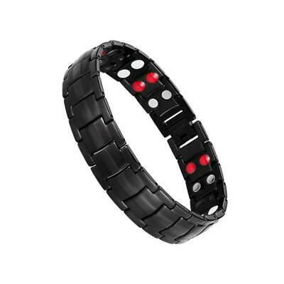 Jeracol Magnetic Therapy Bracelets for Men Healthy Sleek Cuff Wristband Relief P