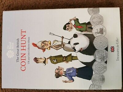 The Royal Mint The Great British Coin Hunt UK 50P Coin Collector Album  New