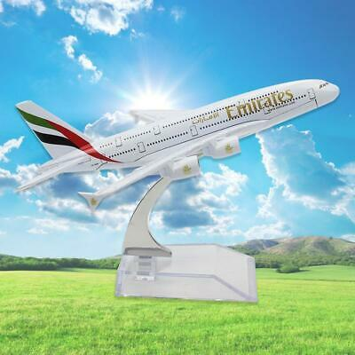 16cm Diecast Model Airbus380 Emirates Airlines A380 Aircraft Aeroplane New HQ