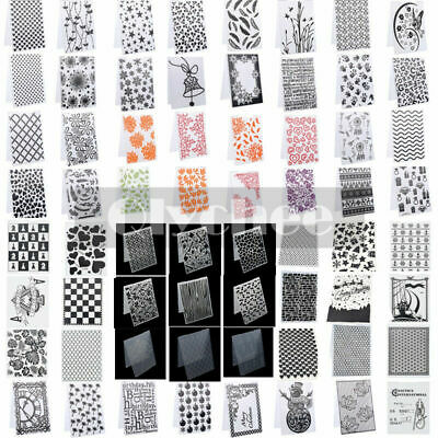 Clear Silicone Stamp Rubber Scrapbook Embossing Stencil Folders Christmas Xmas