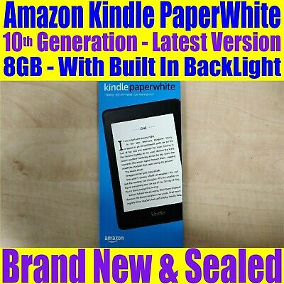 "Amazon Kindle Paperwhite 8GB 6.0"" inch WiFi 10th Generation Brand New & Sealed"
