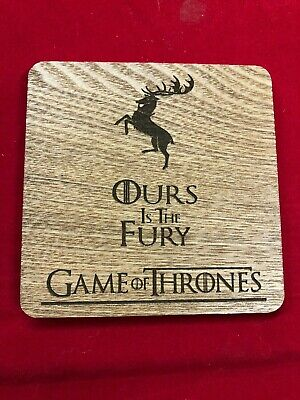 GOT Game of Thrones Engraved Ours is the Fury Coaster