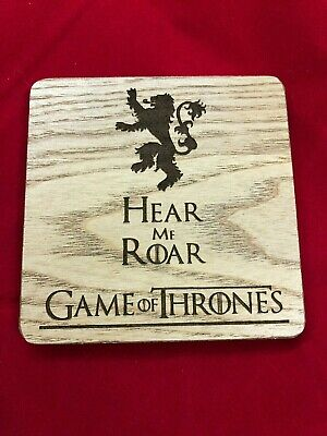 GOT Game of Thrones Engraved Hear me Roar Coaster