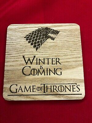 GOT Game of Thrones Engraved Winter is Coming Coaster