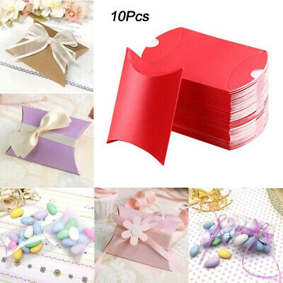 New 10Pcs Candy Boxes Favor Gift Paper Kraft Baby Shower Wedding Party Supplies
