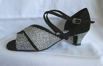 Ladies Black / Silver Ballroom, Latin, Salsa, Jive, Dance Shoes - UK Sizes 3 - 9