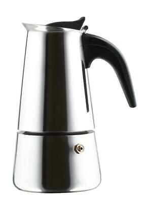 4 CUP Stove Top Stainless Steel Espresso Moka Coffee Pot Maker Machine KINGHOFF