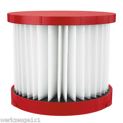 Milwaukee Filter for Akku-Nass Dry Vacuum Cleaners M18 Vc / 0 M28 / 0 4931465230