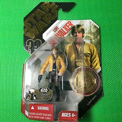 Star Wars Luke Skywalker with Exclusive Collectors Coin Series 30, 77-07 #12