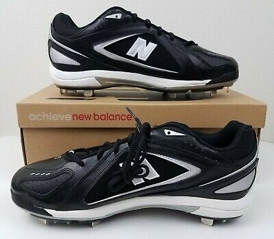 New Balance Mens Low-Cut 12 2E Wide Baseball Metal Cleats Shoes Black New in Box