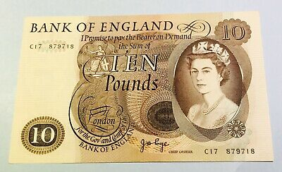 1970 Bank of England £10 note/ Page