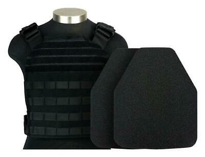 MidWest AR500 10x12 Level III Body Armor Base Coat MOLLE Plate Carrier Black