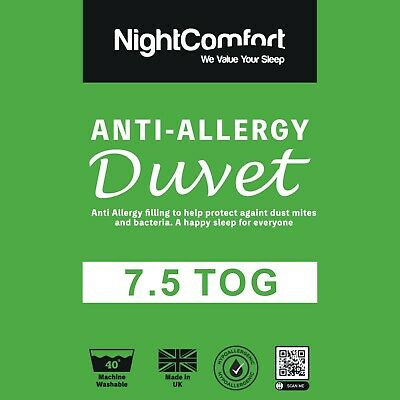 Anti Allergy Duvet Quilt Luxury Hotel Quality 7.5 Tog Duvet All Sizes