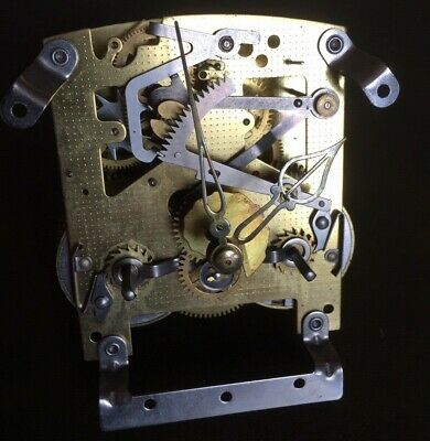 SMITHS Two Train Clock Movement With Hands, Pendulum & Strike Gong.