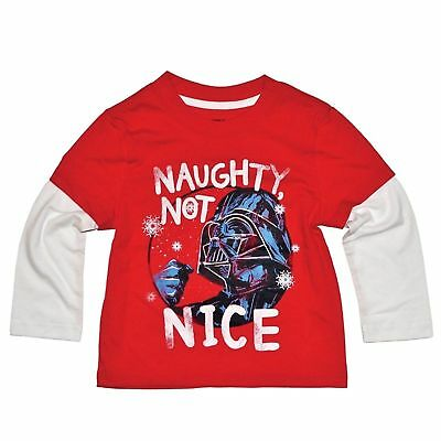 New 5t  Disney Star Wars Darth Vader Naughty Not Nice t-shirt.