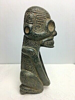 Large Pre Columbian Taino Zemi Cemi Shamans Black Stone Fertility Idol