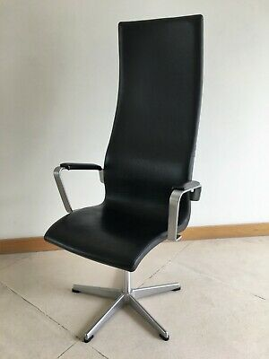 Fabulous Fritz Hansen High Oxford Leather Chair By Arne Jacobsen 1996 Pabps2019 Chair Design Images Pabps2019Com