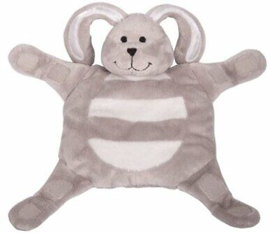 Sleepytot Baby & Toddler  Comforter Soother Holder soft toy Clip -  Bunny Grey