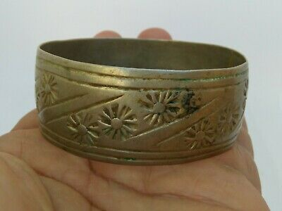 Extremely Rare Ancient Viking Bracelet Metal Color Silver Artifact Authentic