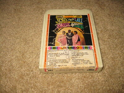 Angelic Gospel Singers Jesus Paid It All 8 Track Tape TESTED