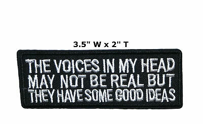 I May Look Calm Embroidered Iron or Sew-on Patch Humor Biker Motif Applique