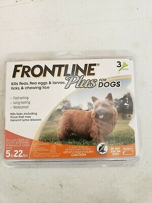 FRONTLINE P004FLTSP-0-22 5 to 22lbs Dog Flea and Tick Control Treatment - 3-Dose
