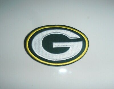 Green Bay Packers  embroridered NFL logo iron on patch 3.5""