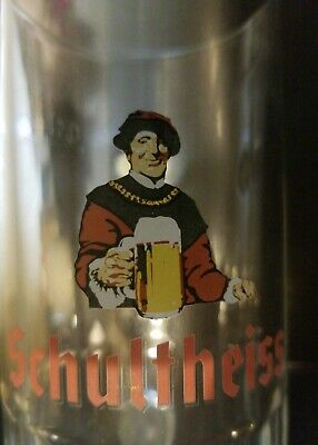 SCHULTHEISS 0.3L Glass Beer Mug Stein (free shipping)