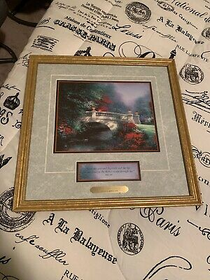 Thomas Kinkade Signed Accent Print BROADWATER BRIDGE with COA